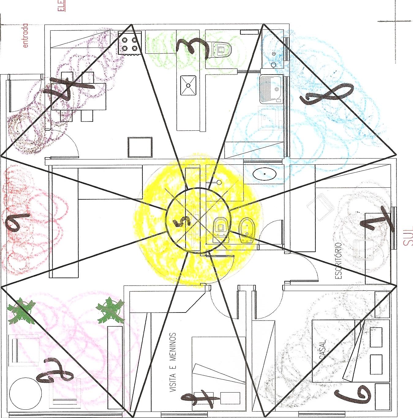Planta baixa – Feng Shui Lógico: Método Solar das 4 Estações  #C2C209 1349 1363