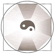 Ba-guá é um octógono símbolo da transição entre o círculo (Céu) e o quadrado (Terra)