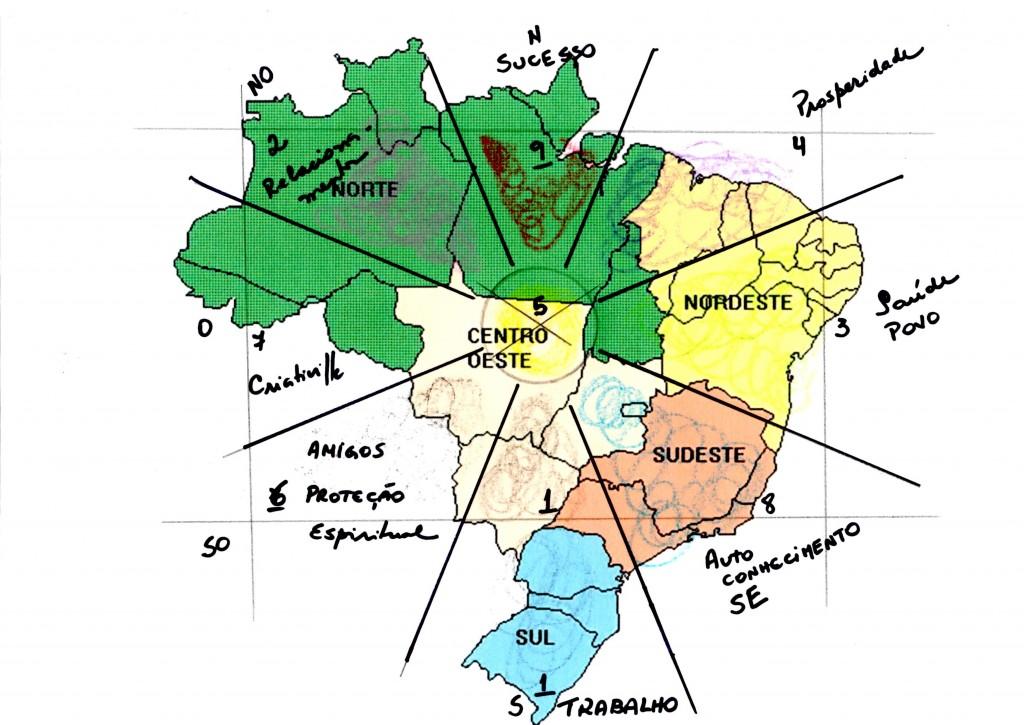 Feng Shui Mapa do Brasil